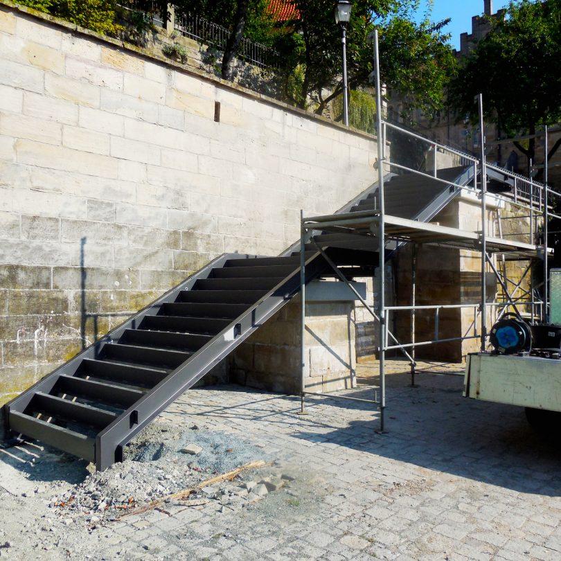 Schlicht + Fischer Ingenieurgesellschaft / Treppe Stadtgraben Kronach